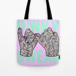 Pinky Swear Glitter Hands Tote Bag
