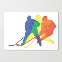 hockey Canvas Prints featuring Hockey by preview