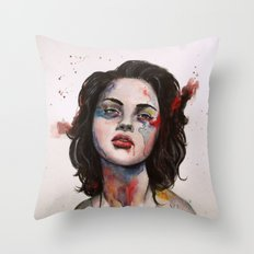 Face Mapping Throw Pillow