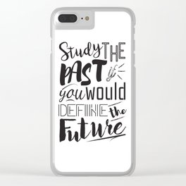 Study the past Clear iPhone Case