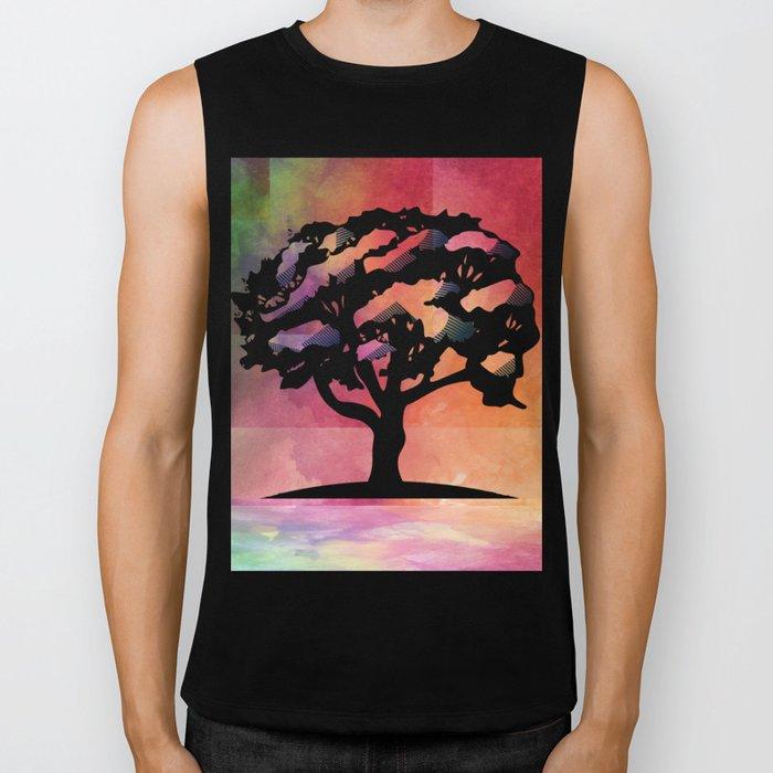 Color Tree Biker Tank