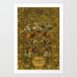 1880 Classical Masterpiece 'The Orange Tree' by William Jabez Muckley Art Print