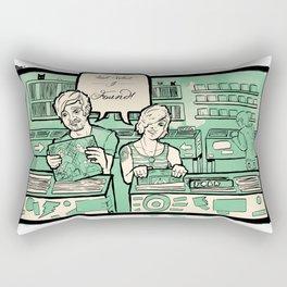 Record Store Poster Print  Rectangular Pillow