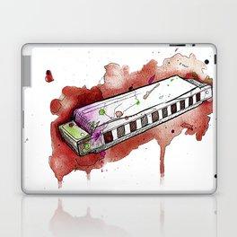 Watercolor Harmonica (Red) Laptop & iPad Skin