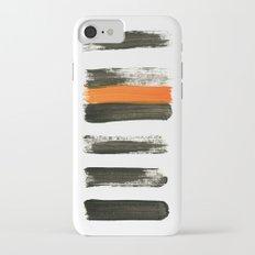 orange stripes iPhone 7 Slim Case