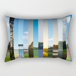 drive by landscape Rectangular Pillow