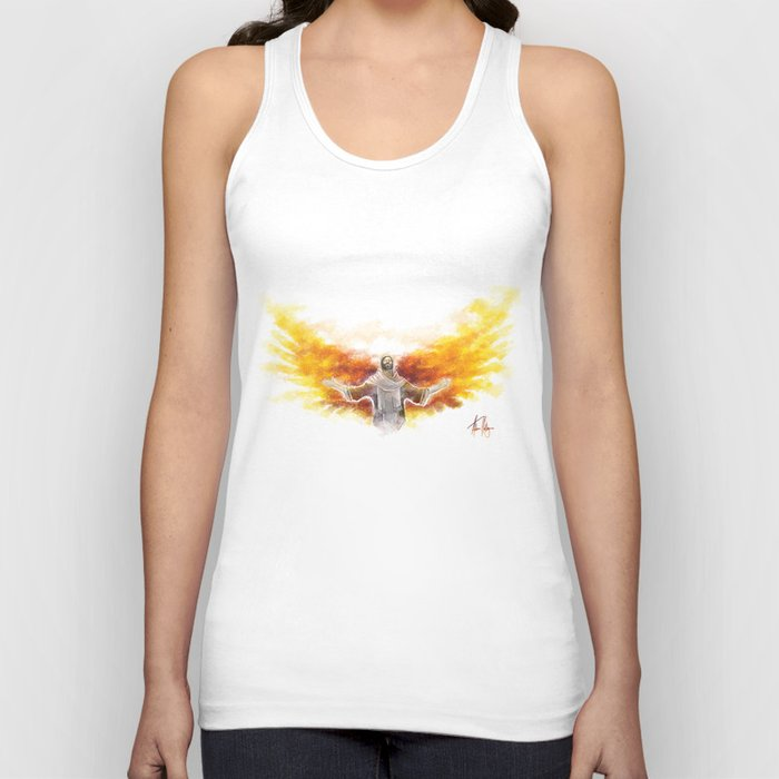 On Wings Like Eagles (Isaiah 40:31) Unisex Tank Top