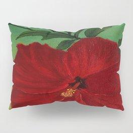 Red hibiscus Pillow Sham