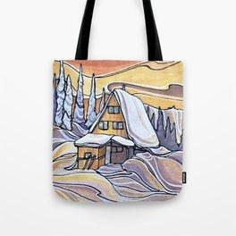 Blanket Mornings :: Single Line Tote Bag