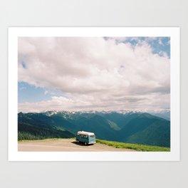 Bus on Hurricane Ridge  Art Print