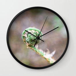 Fiddlehead Fern Wall Clock