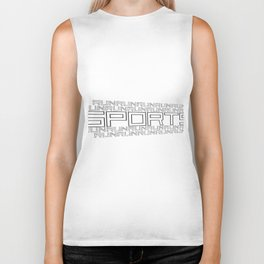 Run for relaxation, pleasure, health... white Biker Tank