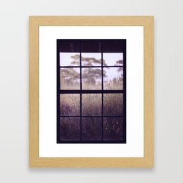 The View from the Window Framed Art Print