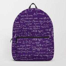 Math Equations // Purple Backpack
