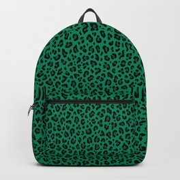 LEOPARD PRINT in GREEN | Collection : Leopard spots – Punk Rock Animal Print Backpack