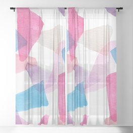Girls Play Translucent Triangles Sheer Curtain