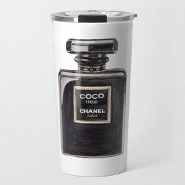 Classic Black Parfum Perfume Fashion Bottle Minimalism Travel Mug