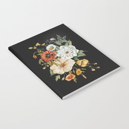 Wildflower Bouquet on Charcoal Notebook