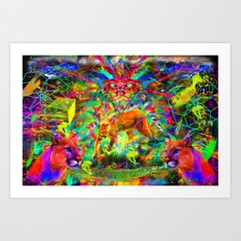 The Laser Focus of Couger Conciousness Art Print