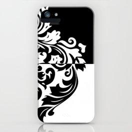 Black & White Inverted Damask iPhone Case