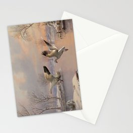 Snow Geese Landing Stationery Cards