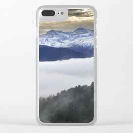 """Paradise"". Mountains Clear iPhone Case"