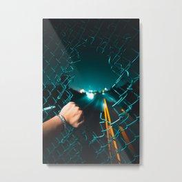 San Francisco Horizon in a Hole Metal Print