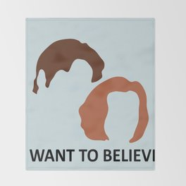 I Want To Believe X-Files Throw Blanket