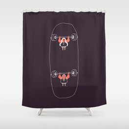 Heavyweight Skateboarding Shower Curtain