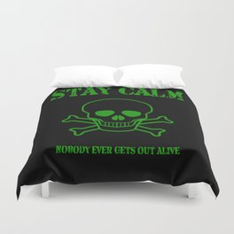 Stay Calm Pirate Flag Duvet Cover