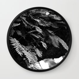 Ferns in the Tree Wall Clock