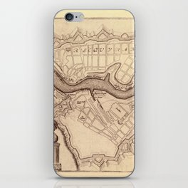 Map Of Brest 1693 iPhone Skin