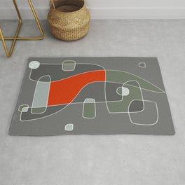 Abstract Painting of a Dog - Modern Artwork | 2A Rug