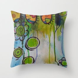 Fairies in the Forest Throw Pillow