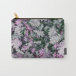 Pop of Color Leaves : Pink Purple Carry-All Pouch