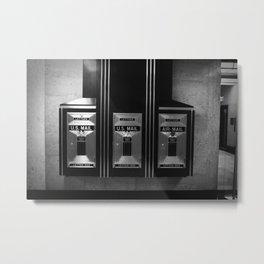 Mailboxes Black and White Original Photo Metal Print