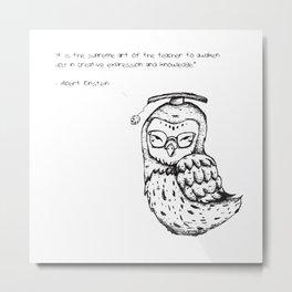 Teaching Owl Metal Print