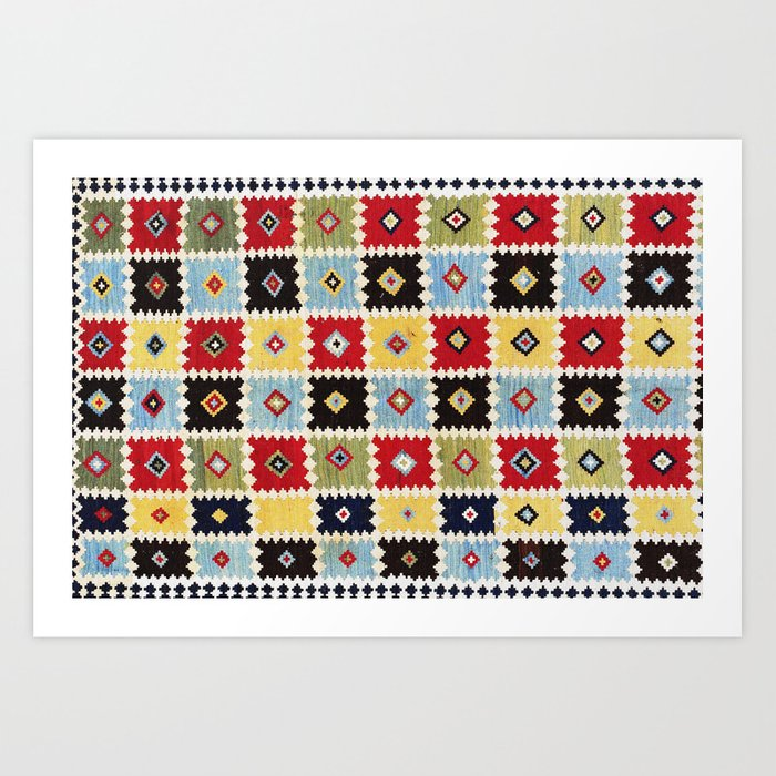 Luri Kilim  Antique Fars Persian Rug Print Kunstdrucke