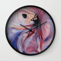 dancer Wall Clocks featuring Dancer by NoraMel
