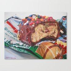 Birthday Cake Egg Canvas Print