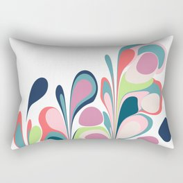 Colorful Abstract Floral Design Rectangular Pillow