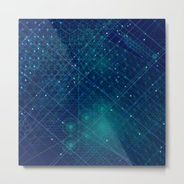 Cosmic Geometry Metal Print