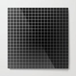 Metal Cage - Industrial, metallic grid pattern Metal Print