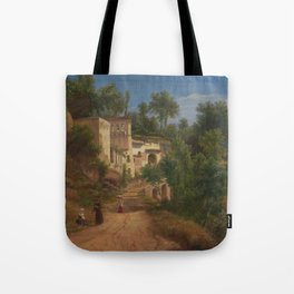 The Hermitage of St Maria of the Avvocatella near Naples by Eu von Guerard Date 1849 Tote Bag