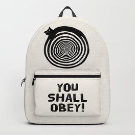 Hypnotic Black Cat Backpack