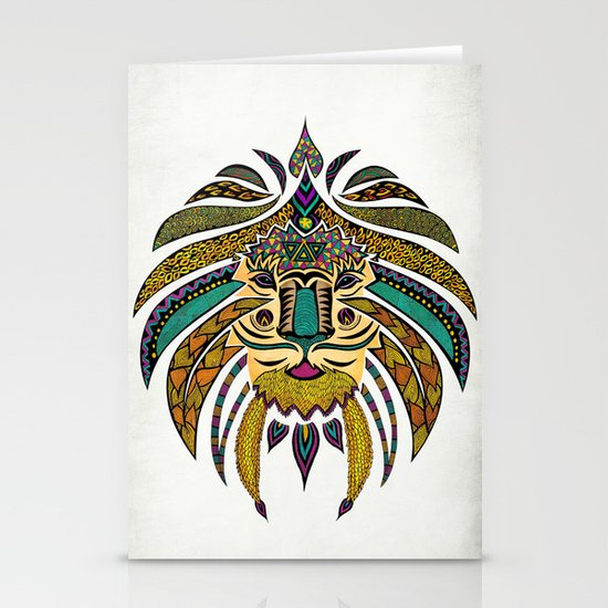 Emperor Tribal Lion Stationery Cards
