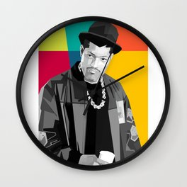 𝗡𝗼𝘃.𝟳   Society6 Online Photography - Home & Office Art - Laurence John Fishburne III - 889 Wall Clock