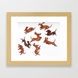 Wiener Doggies Framed Art Print