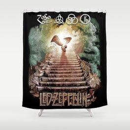 Red Zeppelin - Stairway to Heaven Shower Curtain