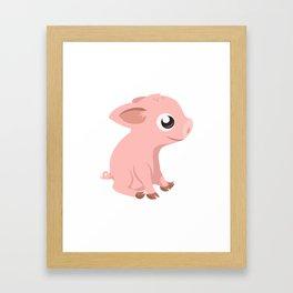 Cute Baby Pig Framed Art Print
